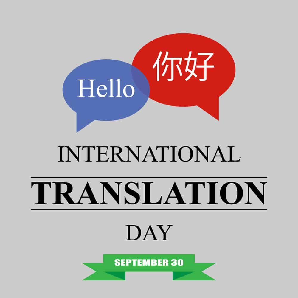 International translation day vector illustration